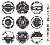 vector seal labels premium... | Shutterstock .eps vector #1010757817