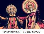 a kathakali performance in...   Shutterstock . vector #1010758927
