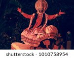 kathakali artist depicting...   Shutterstock . vector #1010758954