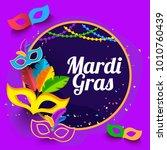 illustration of mardi gras... | Shutterstock .eps vector #1010760439