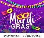 illustration of mardi gras... | Shutterstock .eps vector #1010760451