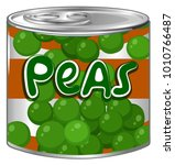 peas in round can illustration | Shutterstock .eps vector #1010766487