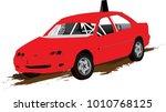 speedway racing car vector | Shutterstock .eps vector #1010768125