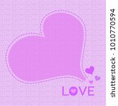 violet hearts purple background ... | Shutterstock .eps vector #1010770594