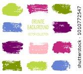 grunge brush stroke texture... | Shutterstock .eps vector #1010772547