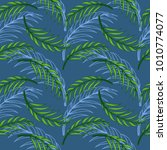 tropical leaf floral seamless... | Shutterstock .eps vector #1010774077