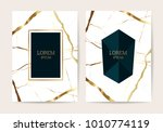 luxury  design cover with gold... | Shutterstock .eps vector #1010774119