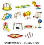 collection of isolated play... | Shutterstock .eps vector #101077729