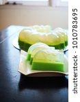 Small photo of Green Agar-agar Dessert