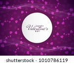 abstract lovely happy valentine'... | Shutterstock .eps vector #1010786119