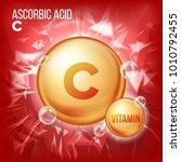 vitamin c ascorbic acid.... | Shutterstock .eps vector #1010792455