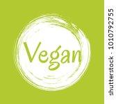 white vegan diet label  painted ...   Shutterstock .eps vector #1010792755