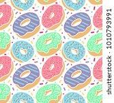 vector colorful delicious... | Shutterstock .eps vector #1010793991