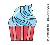 sweet cupcake icon | Shutterstock .eps vector #1010797291