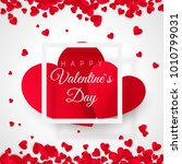 valentines day postcard. two... | Shutterstock .eps vector #1010799031
