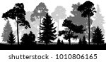 coniferous forest trees set... | Shutterstock .eps vector #1010806165