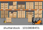 warehouse interior with goods ... | Shutterstock .eps vector #1010808451
