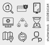 business outline vector icon... | Shutterstock .eps vector #1010816164