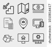 business outline vector icon...   Shutterstock .eps vector #1010816617