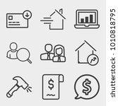 business outline vector icon... | Shutterstock .eps vector #1010818795