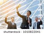success business man holding... | Shutterstock . vector #1010822041