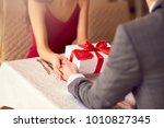 beautiful couple in love at the ... | Shutterstock . vector #1010827345