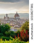 florence  italy cityscape | Shutterstock . vector #1010827381