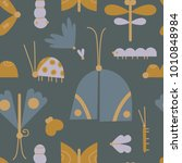 the seamless  pattern with... | Shutterstock .eps vector #1010848984