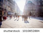 crowd of anonymous people...   Shutterstock . vector #1010852884