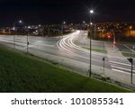 night crossroad in the city... | Shutterstock . vector #1010855341