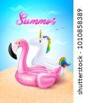 vector realistic 3d pink... | Shutterstock .eps vector #1010858389