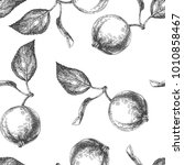 vector seamless pattern with... | Shutterstock .eps vector #1010858467