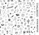 hand drawn doodles cartoon... | Shutterstock . vector #1010875411
