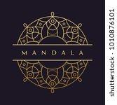 mandala   vector logo icon... | Shutterstock .eps vector #1010876101