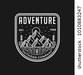 mountain adventure   vector... | Shutterstock .eps vector #1010883247