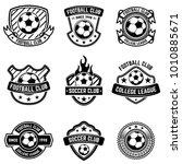 football club emblems on white... | Shutterstock .eps vector #1010885671