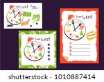 time to eat food. design banner ... | Shutterstock .eps vector #1010887414