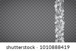 isolated snowflakes on... | Shutterstock .eps vector #1010888419