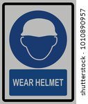 safety helmet   protection head ... | Shutterstock .eps vector #1010890957