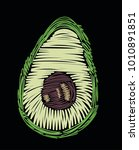 avocado vector embroidery | Shutterstock .eps vector #1010891851