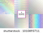 set of trendy holographic... | Shutterstock .eps vector #1010893711