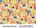 retro orange and yellow color... | Shutterstock .eps vector #1010893801