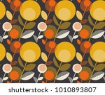retro orange and yellow color... | Shutterstock .eps vector #1010893807