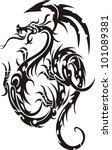 tribal tattoo dragon vector... | Shutterstock .eps vector #101089381