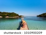 back view of an attractive...   Shutterstock . vector #1010900209