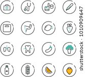line vector icon set   doctor... | Shutterstock .eps vector #1010909647