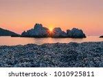 A Beautiful Seascape With Sun...