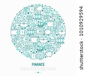 finance concept in circle with... | Shutterstock .eps vector #1010929594