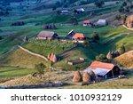 beautiful rural mountain...   Shutterstock . vector #1010932129