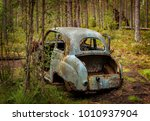 Abandoned Old Car Wreck In The...
